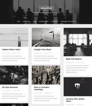 Reading Blogger Templates