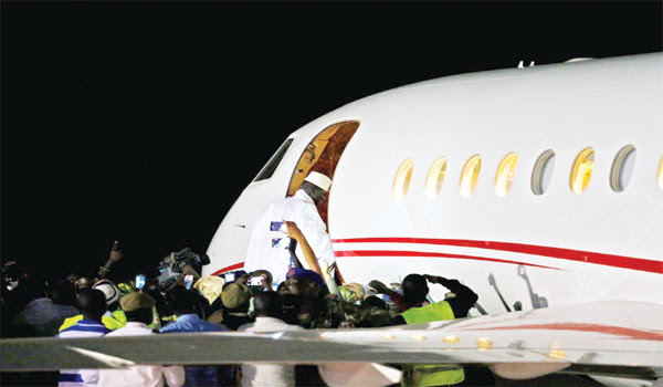 Tinubu's private plane flies Jammeh into exile