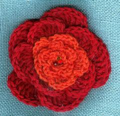 crochet 5 petal flower