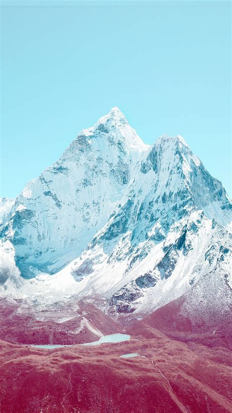 Apple iOS7 Stock Lock Screen Mountains Android Wallpaper
