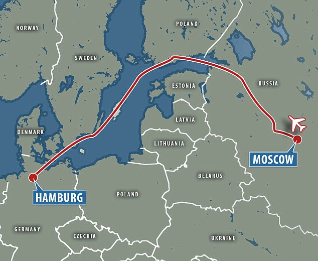 Putin's plane took a 300 mile diversion to prevent flying over Poland and the Baltic States on his way to the G20 summit