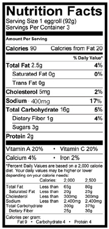 Chicken Dumpling Nutrition Facts
