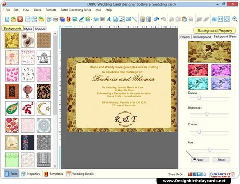 Wedding Cards Design Software to create marriage