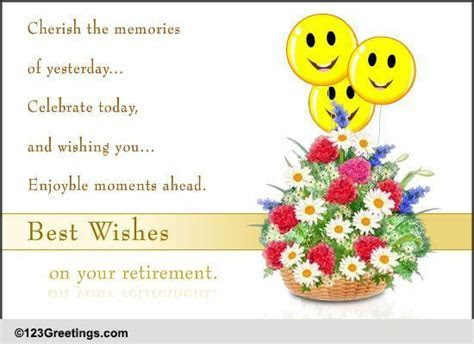 Best Wishes For Retirement  Free Retirement eCards