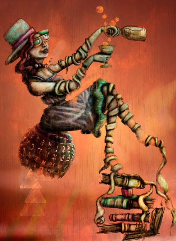 Ilustración Pasajera por Hache Holguín