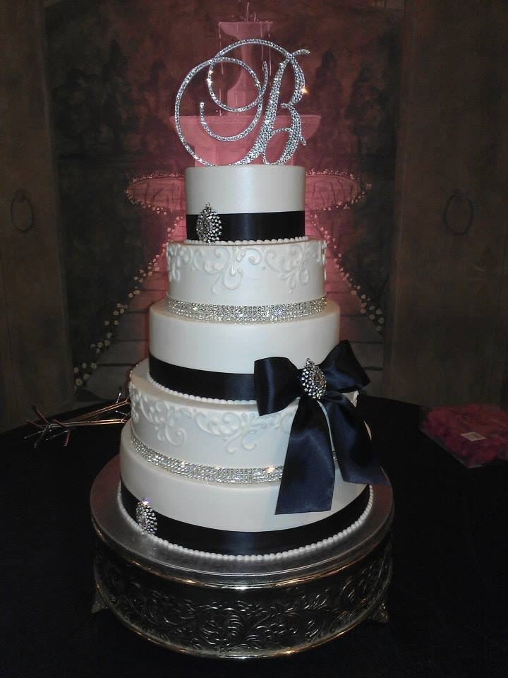 Swarovski Crystal Wedding Cake Toppers Bling Rhinestone Monograms All Designs That Shine