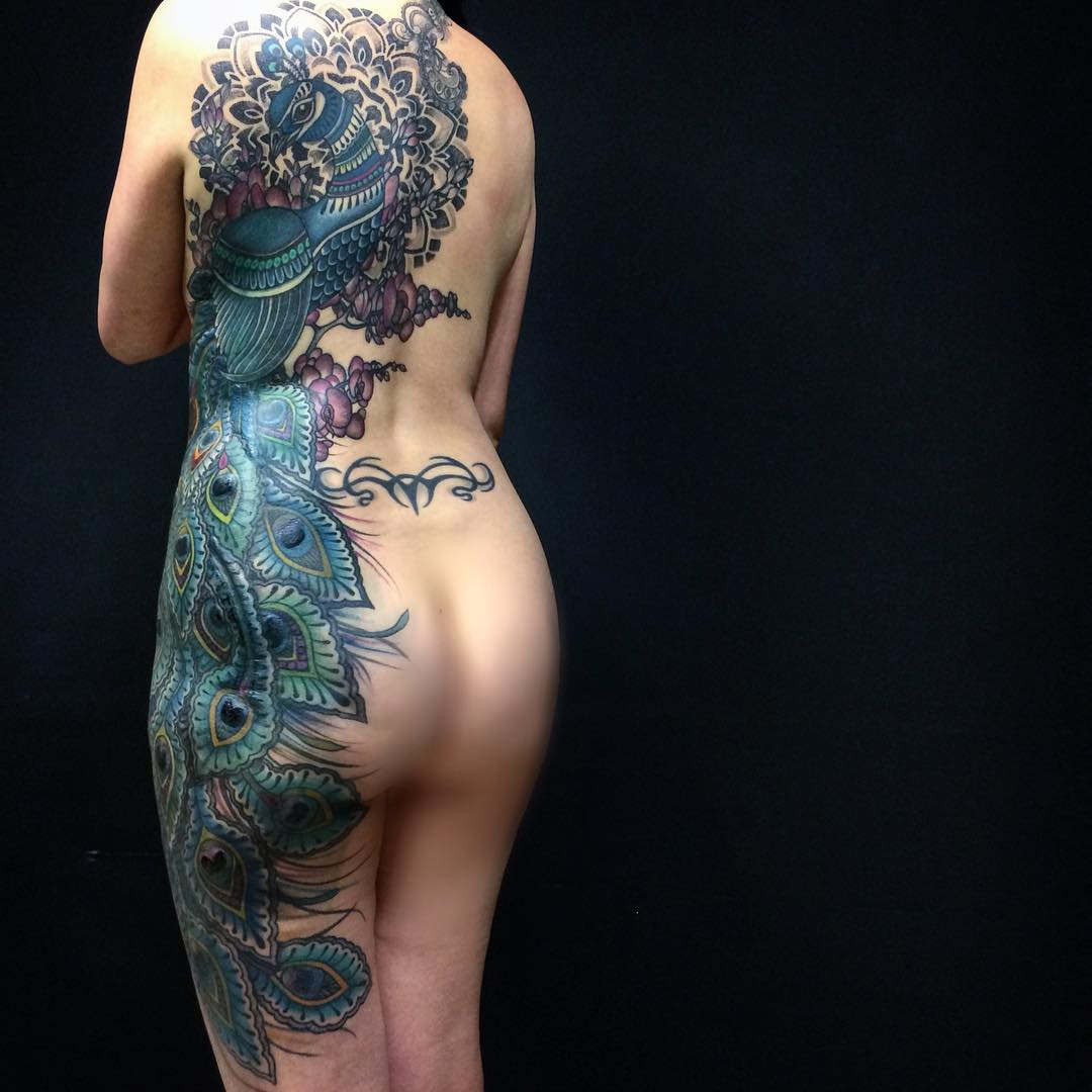 Full Body Peacock Tattoo Best Tattoo Ideas Gallery