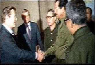 Donald Rumsfeld gặp Saddam ở Baghdad