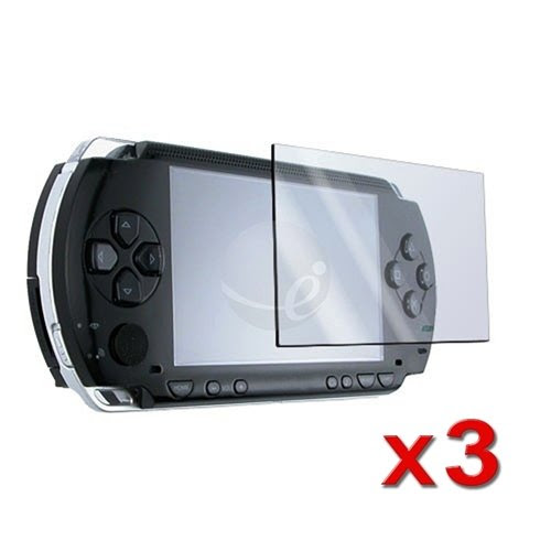 3 Screen Protector + Cloth + for SONY PSP