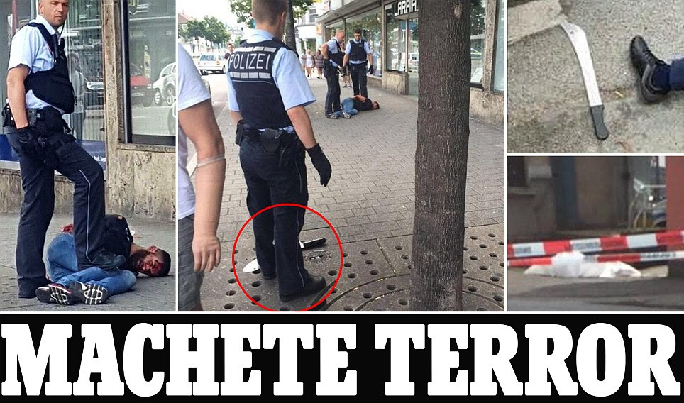 Syrian refugee kills woman and injures others with machete in Reutlingen Germany