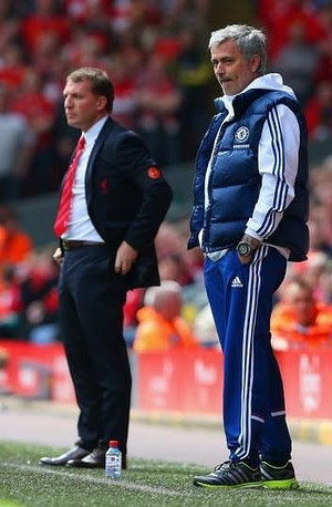 Mastermind: Chelsea's Jose Mourinho out-thought his opponent Brendan Rodgers.