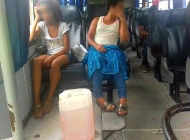 Mucuri: Ônibus escolar é flagrado com pneu sem pedaço e gasolina junto de crianças
