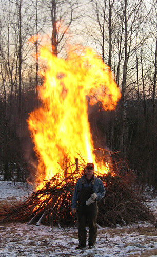 1 Man, 1 Big Pile of Sticks, 1 Lighter