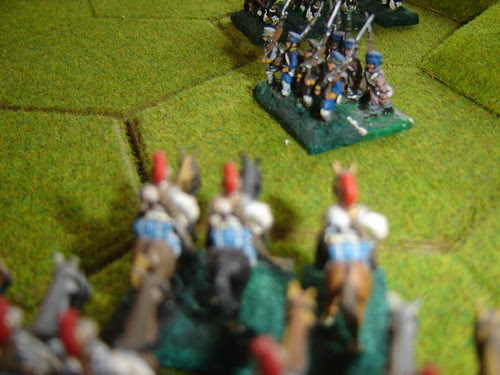 French Lancers fall on the Prussians