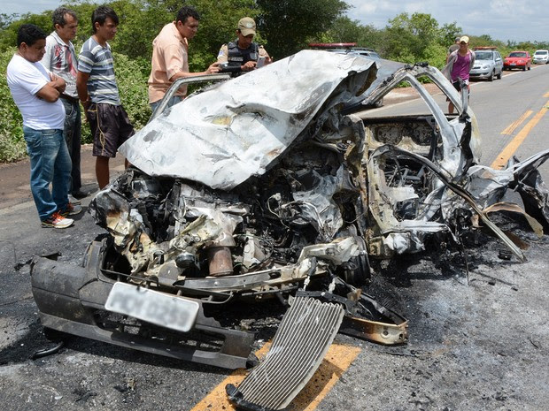 O acidente aconteceu nas proximidades de Dormentes, Sertão de PE (Foto: Gerisvan Tavares / Arquivo Pessoal)