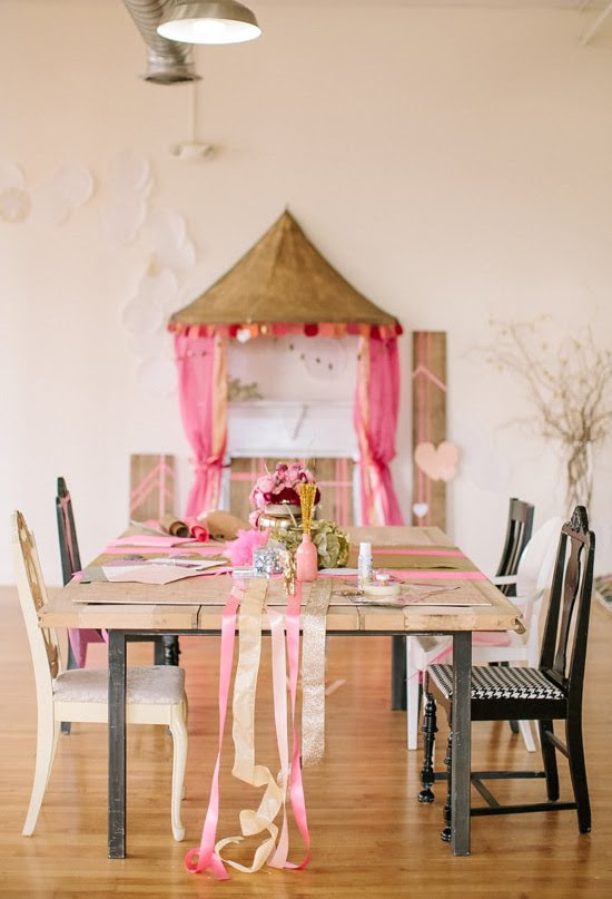 Amazing DIY Pink Gold and Glittery Valentine's Day Party Ideas