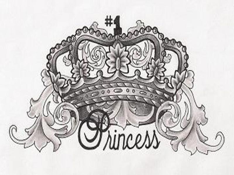Crown Tattoo Design For Women
