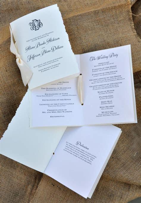 Customizing your Wedding Programs ? Wiregrass Weddings