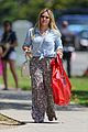 hilary duff shops for melons at whole foods wearing tropical themed pants 04