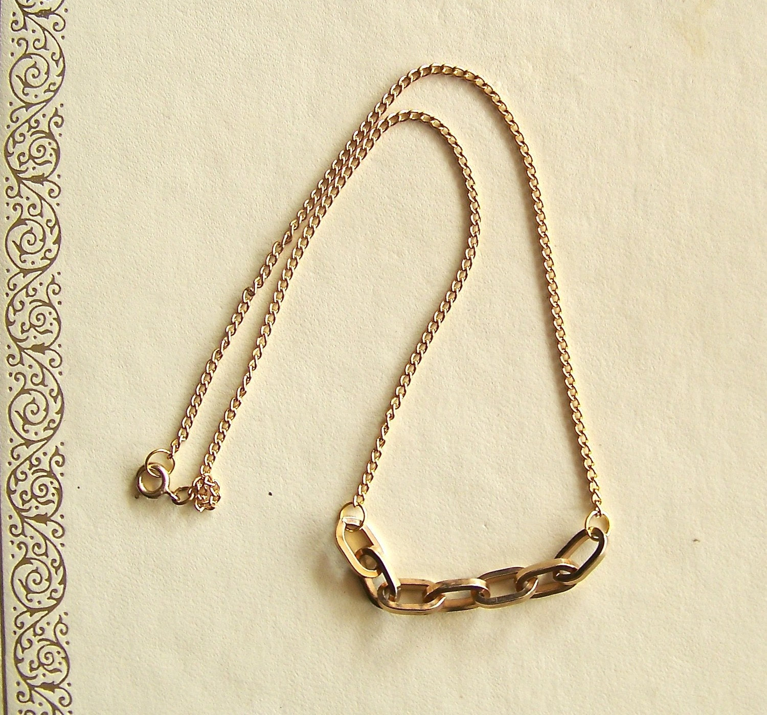 Bertoia necklace - mid century modern - vintage and recycled jewelry