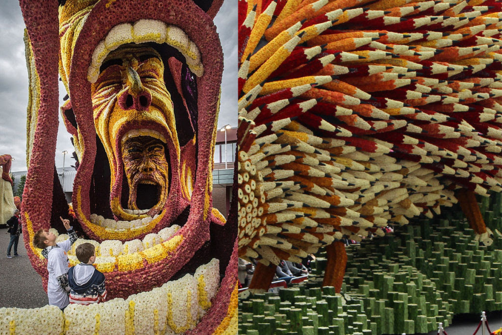 Desfile anual do Corso de Zundert homenageia van Gogh com carros alegóricos monumentais adornados com flores 07