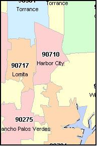 long beach california zip code map