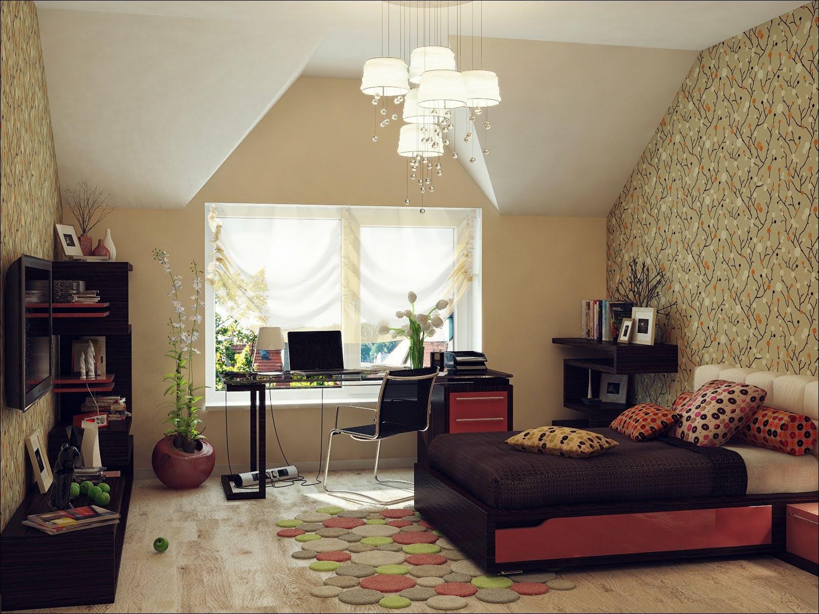 Home Architec Ideas Attic Bedroom Slanted Ceiling Bedroom Ideas
