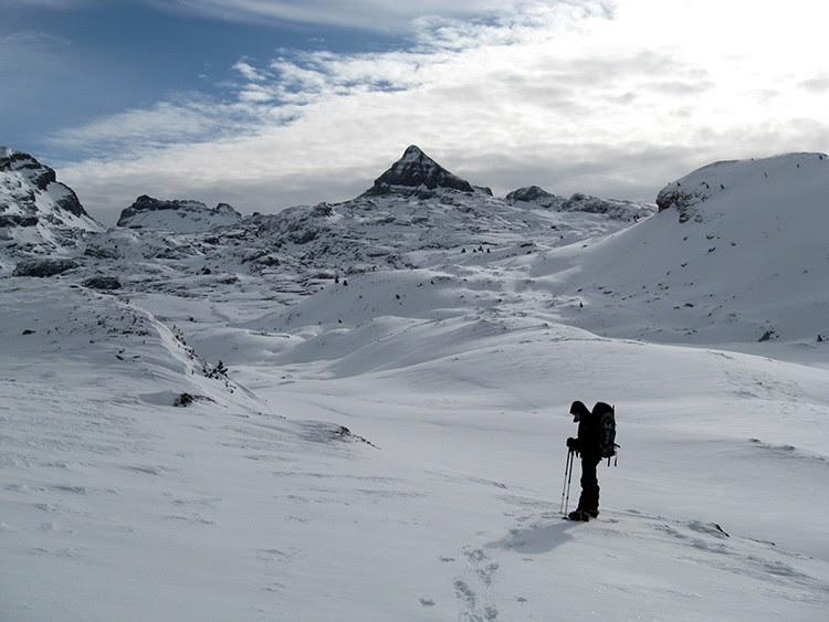 Zonas remotas en el Auñamendi invernal; lugar con problemas de cobertura móvil
