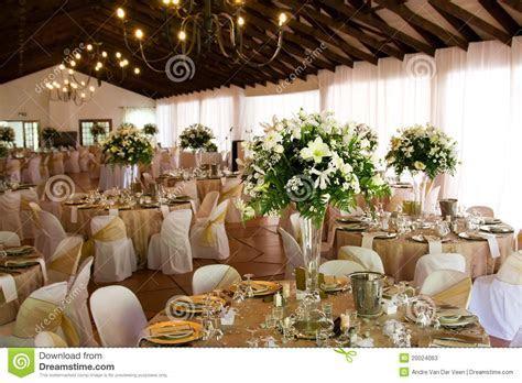Indoors Wedding Reception Venue With Decor Stock Photos