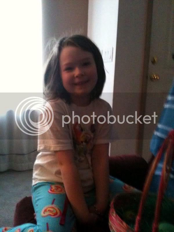 Alyssa with her Easter basket