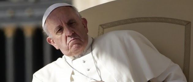 Image result for pope francis angry