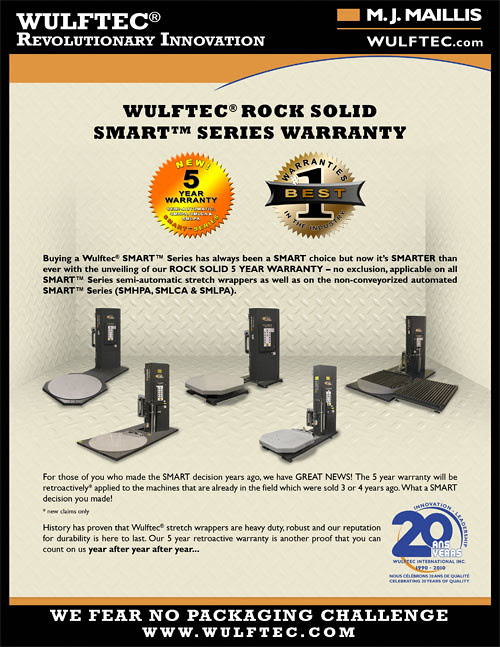 5-year warranty on SMART™ Series