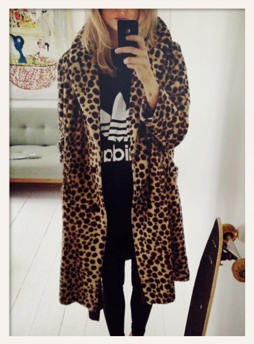 LE FASHION BLOG LEOPARD COAT ADIDAS TEE MIEL MON MIEL photo LEFASHIONBLOGLEOPARDCOATADIDASTEEMIELMONMIEL.png
