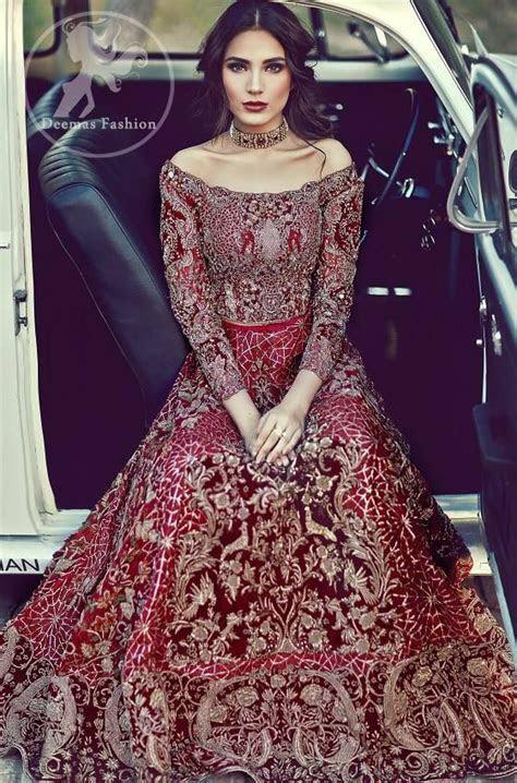 bright red bridal lehenga embroidered choli beige
