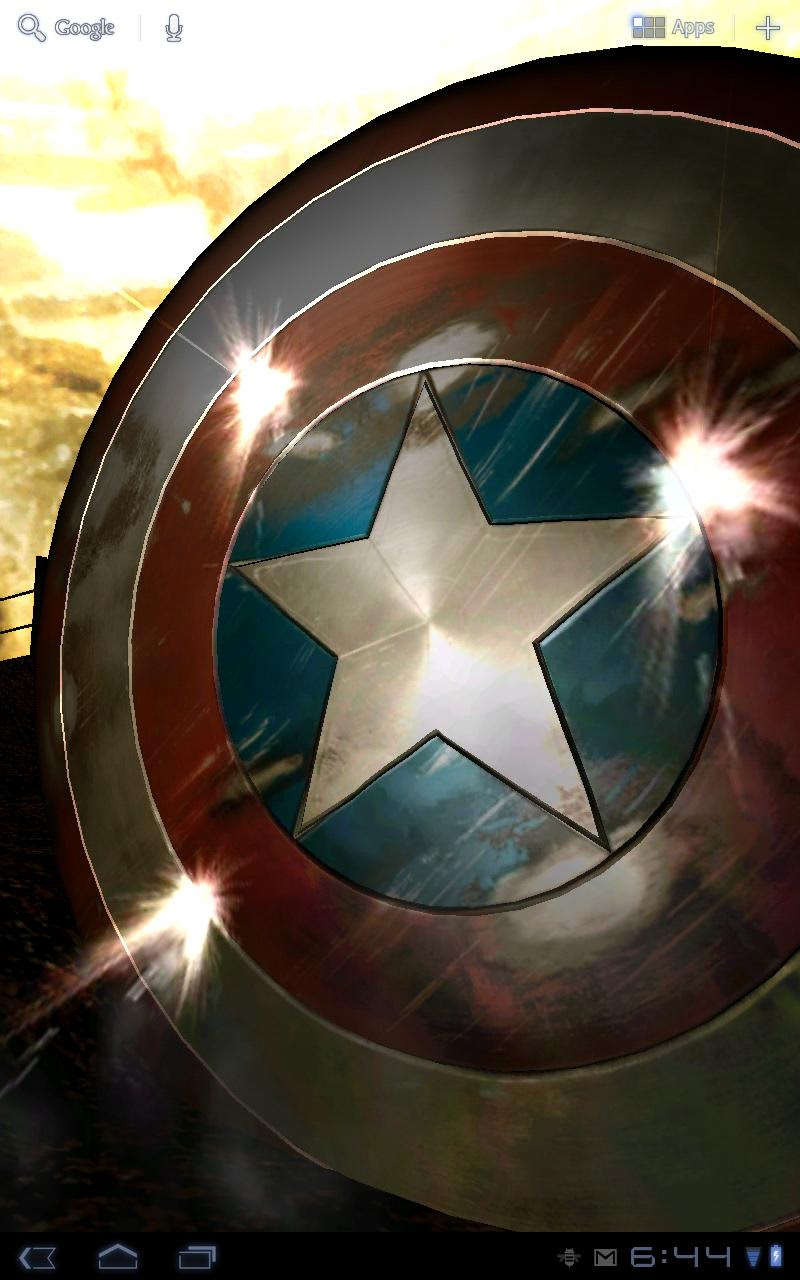 Personalization Android Application Captain America Live Wallpaper