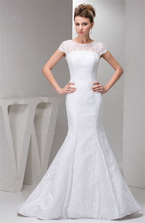 with Sleeves Bridal Gowns Lace Simple Full Figure Summer