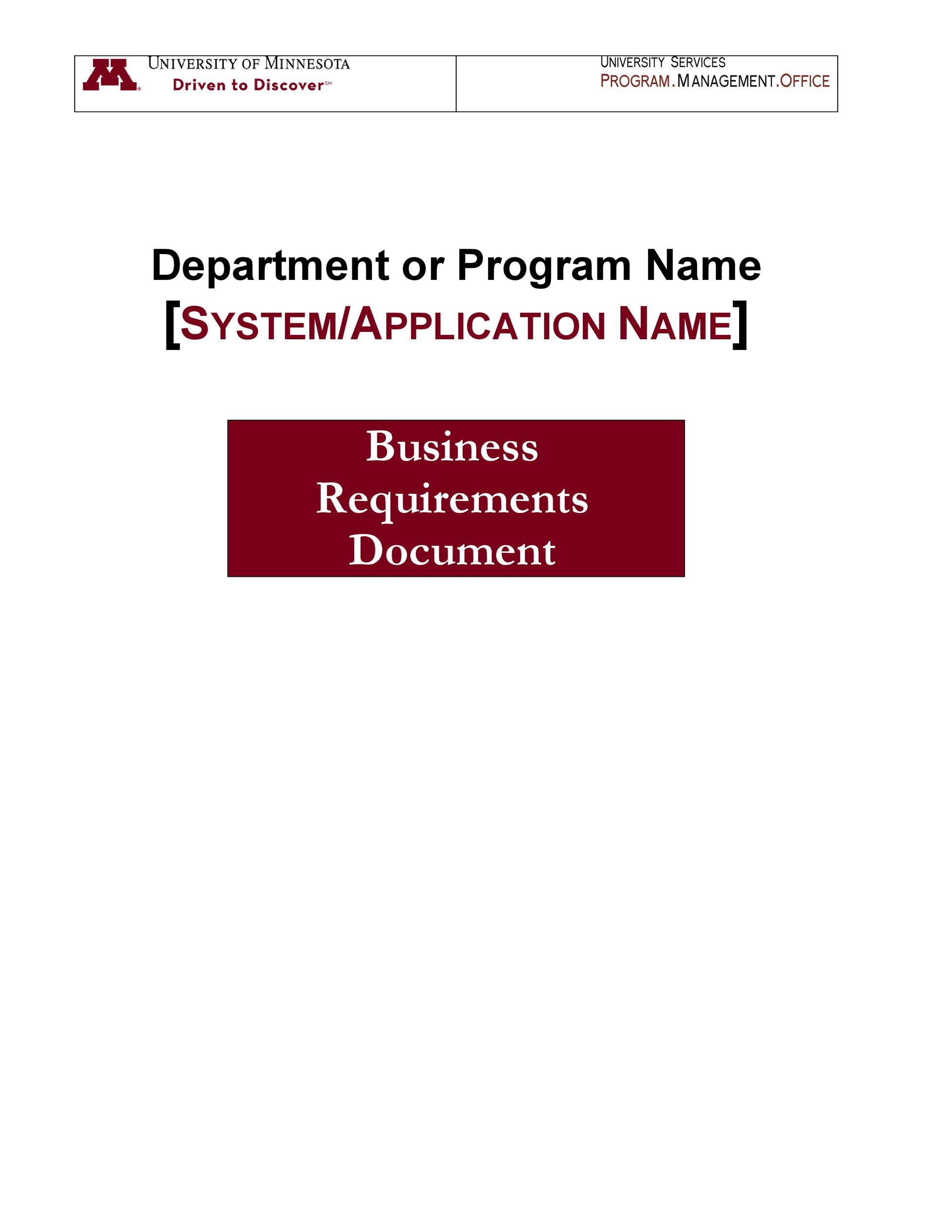 business requirements document template 05