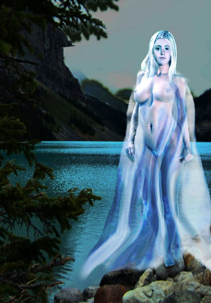 Traditional Modern Female Nude Lady Of The Lake. Original multimedia fine art work, paintings. Prints, signed prints, originals available. Free downloads, wallpaper, GrlFineArt. Fine art work, fine art decor, fineart; landscapes, seascapes, boats, figures, nudes, figurative art, flowers, still life, digital abstracts. Multimedia classical traditional modern acrylic oil painting paintings prints.
