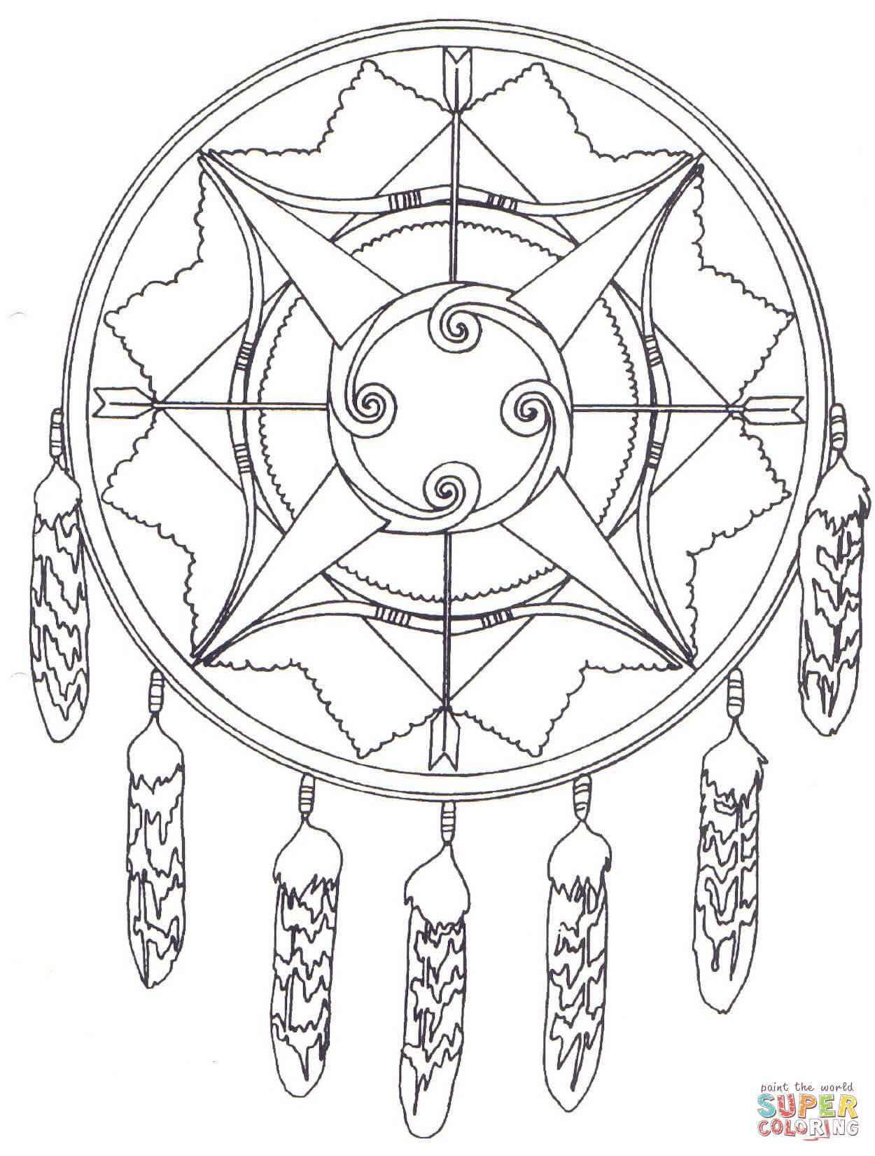 Klick das Bild Indianisches Mandala mit Pfeil und Bogen