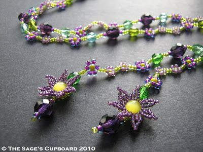 Purple Meadow Daisy Chain Lariat by The Sage's Cupboard