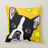 Boston Terrier Gifts Throw Pillows
