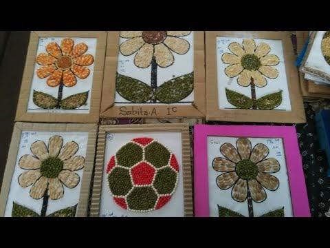Paling Baru Contoh Gambar Kolase Bunga Dari Biji Bijian Asiabateav