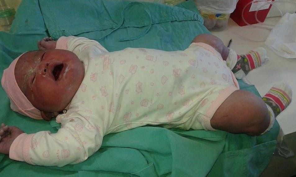 Olivia nasceu saudável