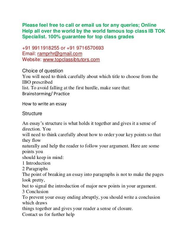 write my tok essay for me