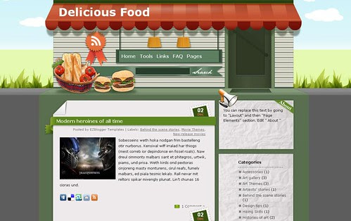 Ezw-Free-Blogger-template-delicious-food