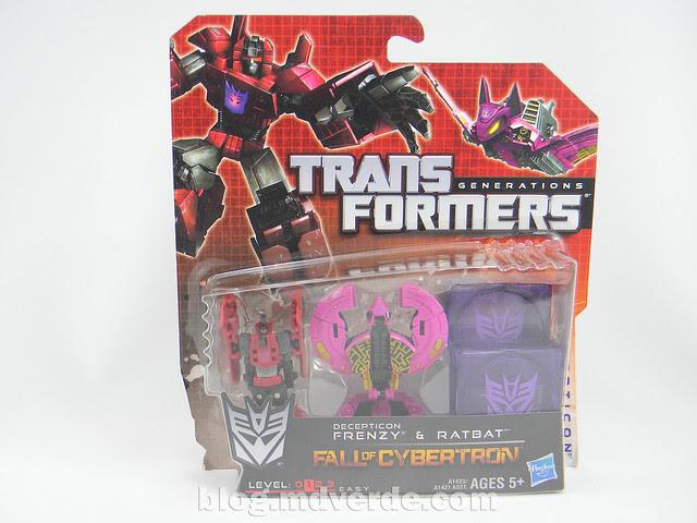 Transformers Frenzy y Ratbat Legends - Generations Fall of Cybertron - caja
