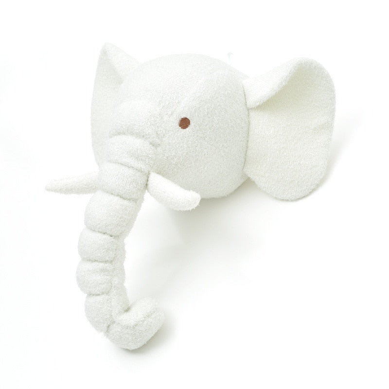 White Elephant Head Wall Mount Hanging Nursery Wall Art Kids Room