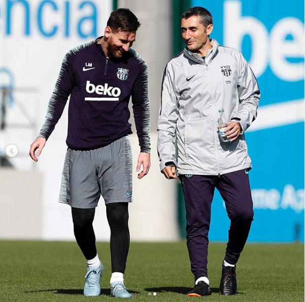 Sacked Barcelona coach Ernesto Valverde sends emotional farewell message to fans as Lionel Messi pays tribute to him