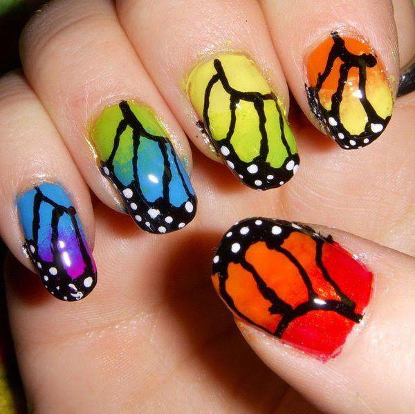 7-unhas-decoradas com-borboletas---