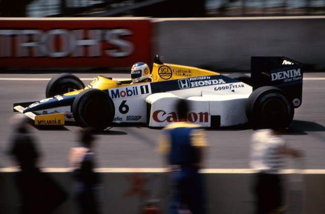 Keke Rosberg Qualifying the Williams in the US GP at Detroit 1985